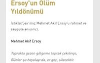 Vatan Şairimiz Mehmet Akîf Ersoy 5 İlim Saati